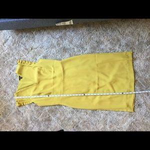 Ann Taylor mustard sheath dress